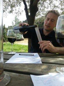 Assemblage de la cuvée exclusive Le Vin des Alpes 2011 en avril 2014